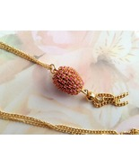 Jewelry Swarovski Rose Crystal Finch Egg Neckla... - $15.00