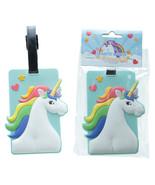 Fun Novelty Rainbow Unicorn Luggage Tag Gift Novelty Present - $9.66