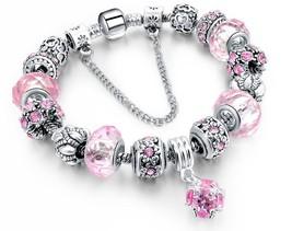 European style charm bracelet - £17.51 GBP