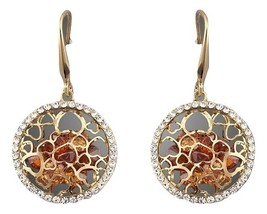 18K Gold Plated Irregular Gold Cubic Zirconia Drop Earrings - $20.00