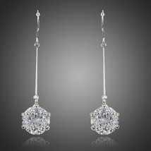 Arista Gems Dangling Five-pointed Star With Clear Cubic Zirconia Drop Earrings - $15.00