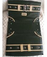 Miche Classic Shell Darla Olive and Beige belt w/ silver rivets - $19.00