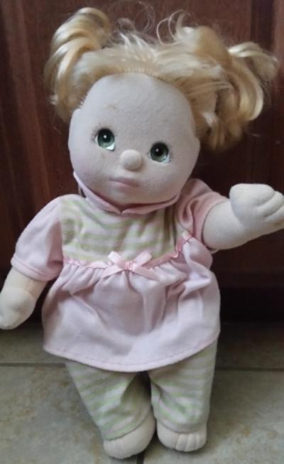 Details about  /Vintage Mattel My Child Doll 1985 Blonde Hair Green Eyes