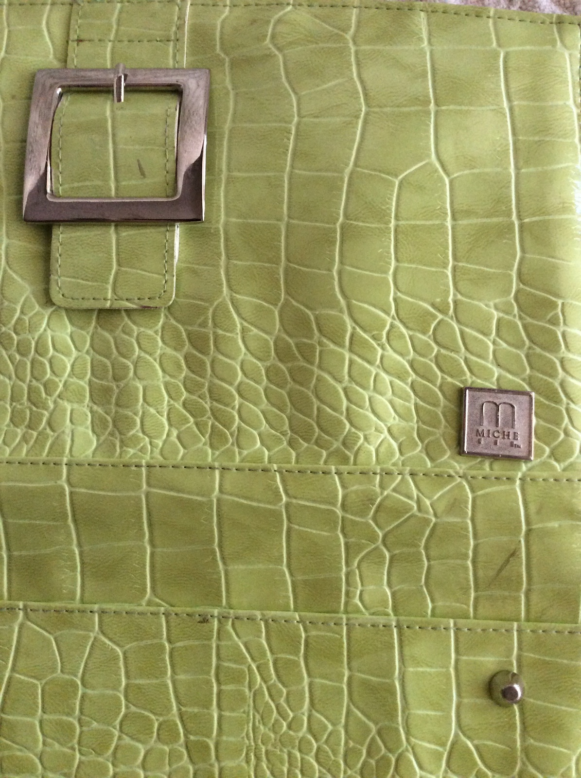 Miche Classic Shell Ellie in Green w/ silver buckle