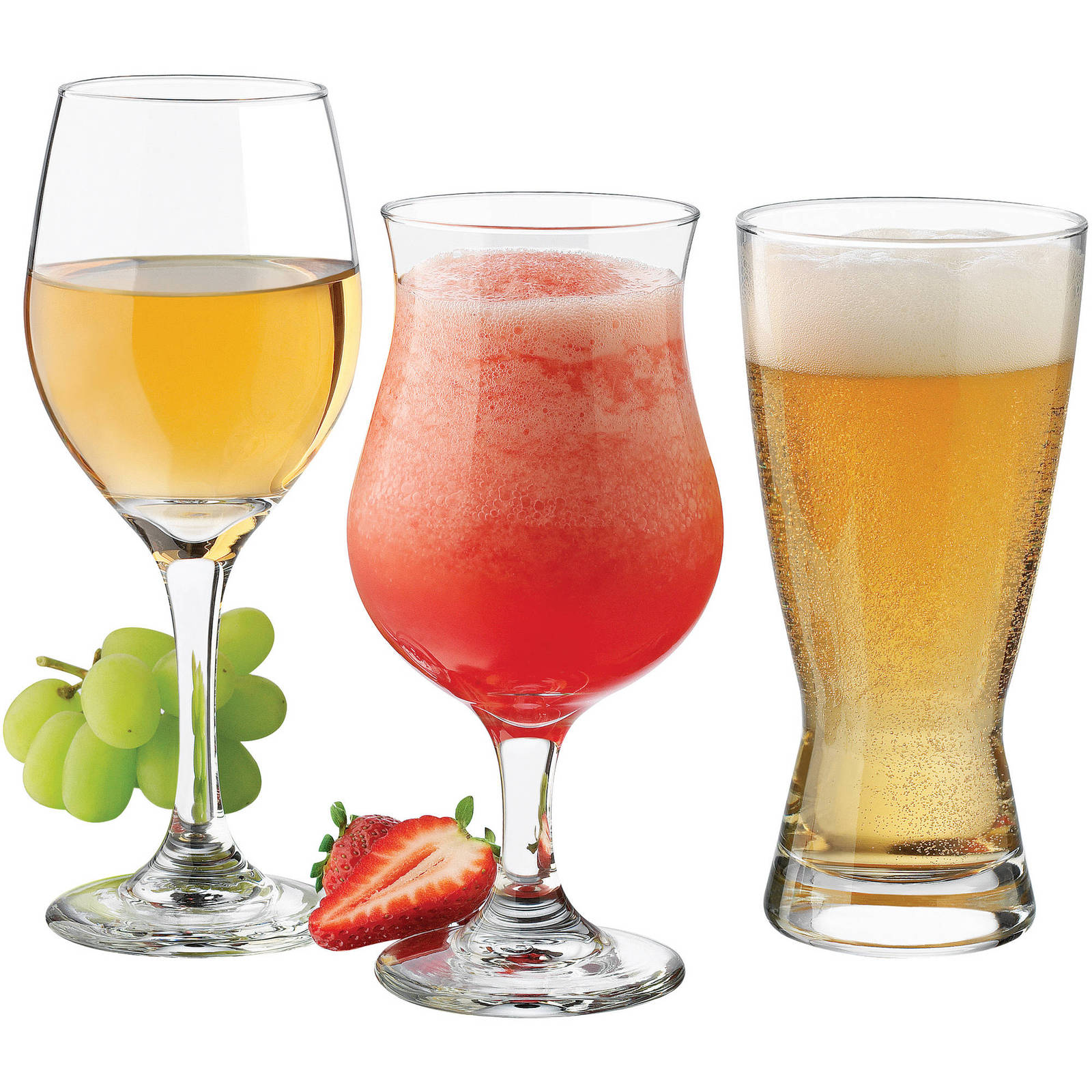 Bar glass set barware glassware wine cocktail beer glases clear 12 pieces