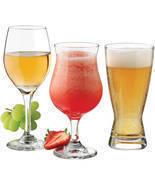 Bar Glass Set Barware Glassware Wine Cocktail Beer Glases Clear 12 Pieces  - £23.50 GBP