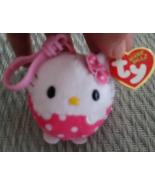 TY Beanie Ballz Hello Kitty With Tags Sanrio 2013 Key Clip - $9.99