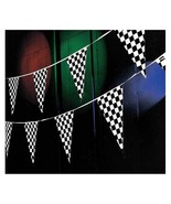 Racing Black and White Checkered Flag Pennant Party Banner Boy's Birthda... - $17.74+