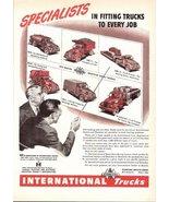 1947 IHC International Trucks six trucks print ad - $10.00