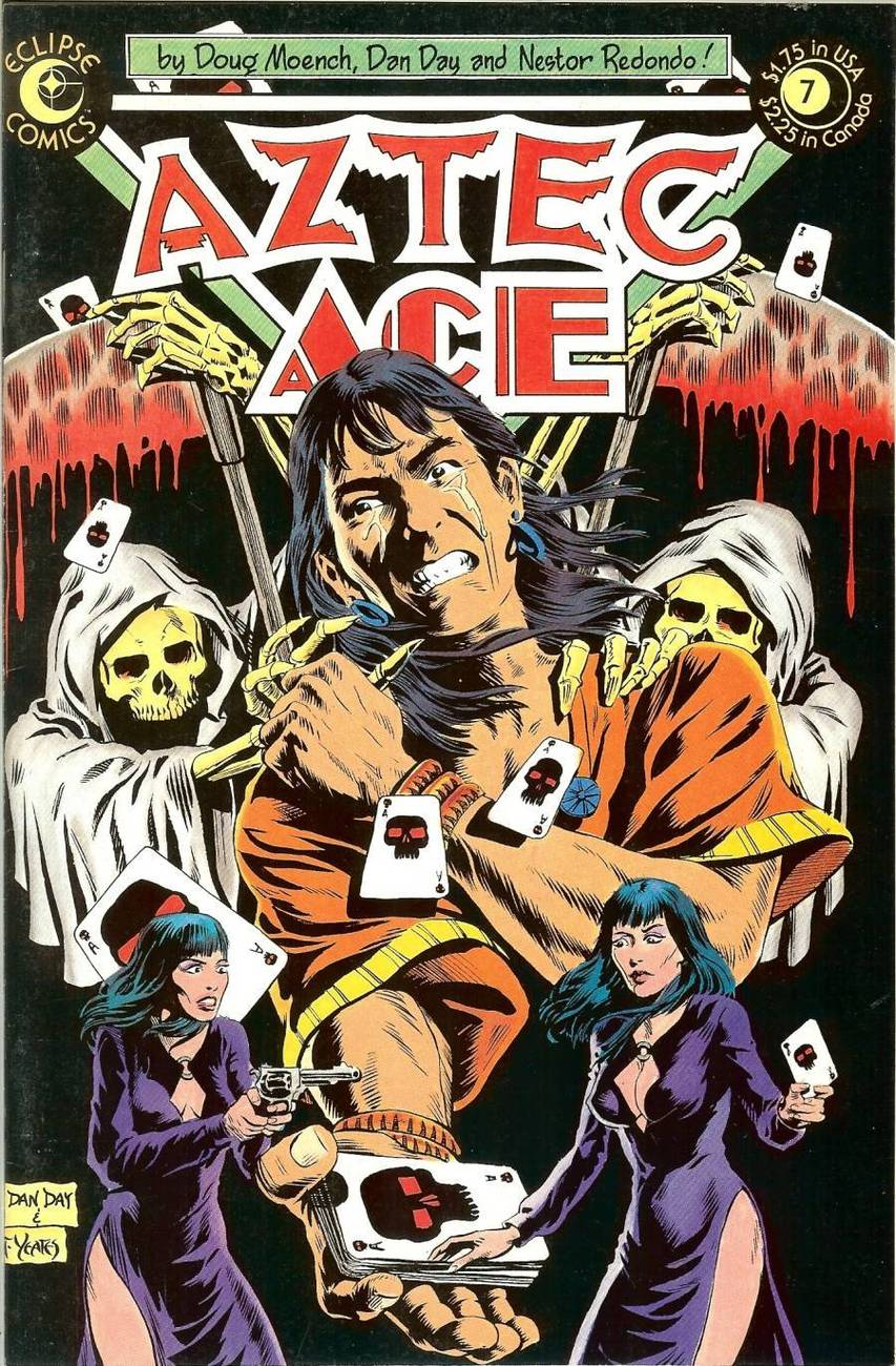 Primary image for aztec ace vol 1 no 7 eclipse comic book october 1984 playing cards guns cover