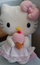 Vintage Hello Kitty With Icecream Cone Stuffed Animal Plush Toy - $14.99