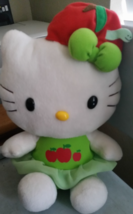 Vintage Hello Kitty Green Red Apple Worm Stuffed Animal Plush Toy - $16.99