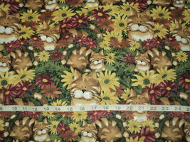 NEW Discontinued Daisy Kingdom Attach Cat Fabric 100% Cotton Sold By 1/2 Yard - $9.98
