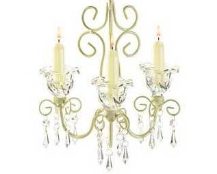 Candle chandelier sparkling flowers crystalline drops Metal distressed finish