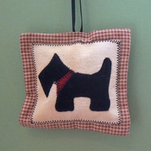 Scottie Dog Appliqué Christmas Ornament - $5.95