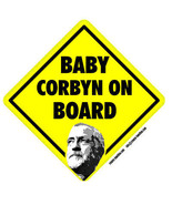 Baby Jeremy Corbyn on Board self cling vinyl car window sticker 14cm Labour - $4.20