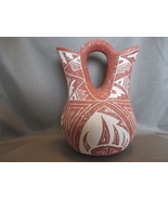BEAUTIFUL HANDCARVED ACOMA PUEBLO WEDDING VASE ... - $82.00