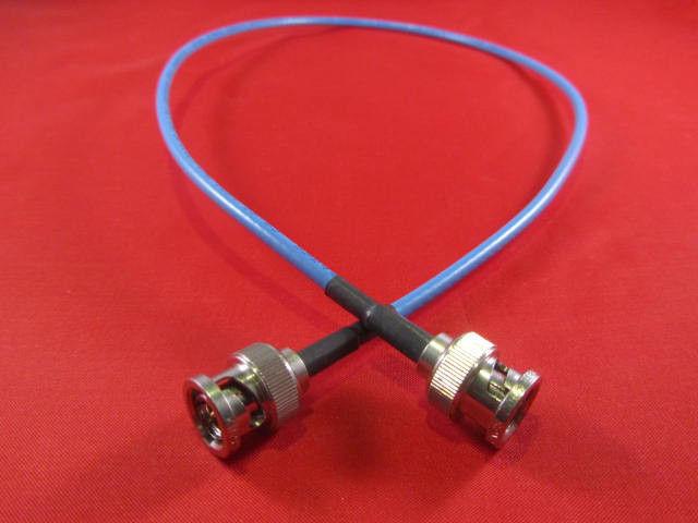 New 75/' Blue Belden 1855A Digital Video BNC Male Cable Mini RG59 HDTV SDI//HD