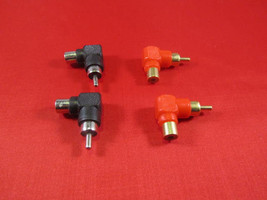 Lot of 4, RCA Male to Female Right Angle Adapter 90 Degree, Black and Red. - $5.89