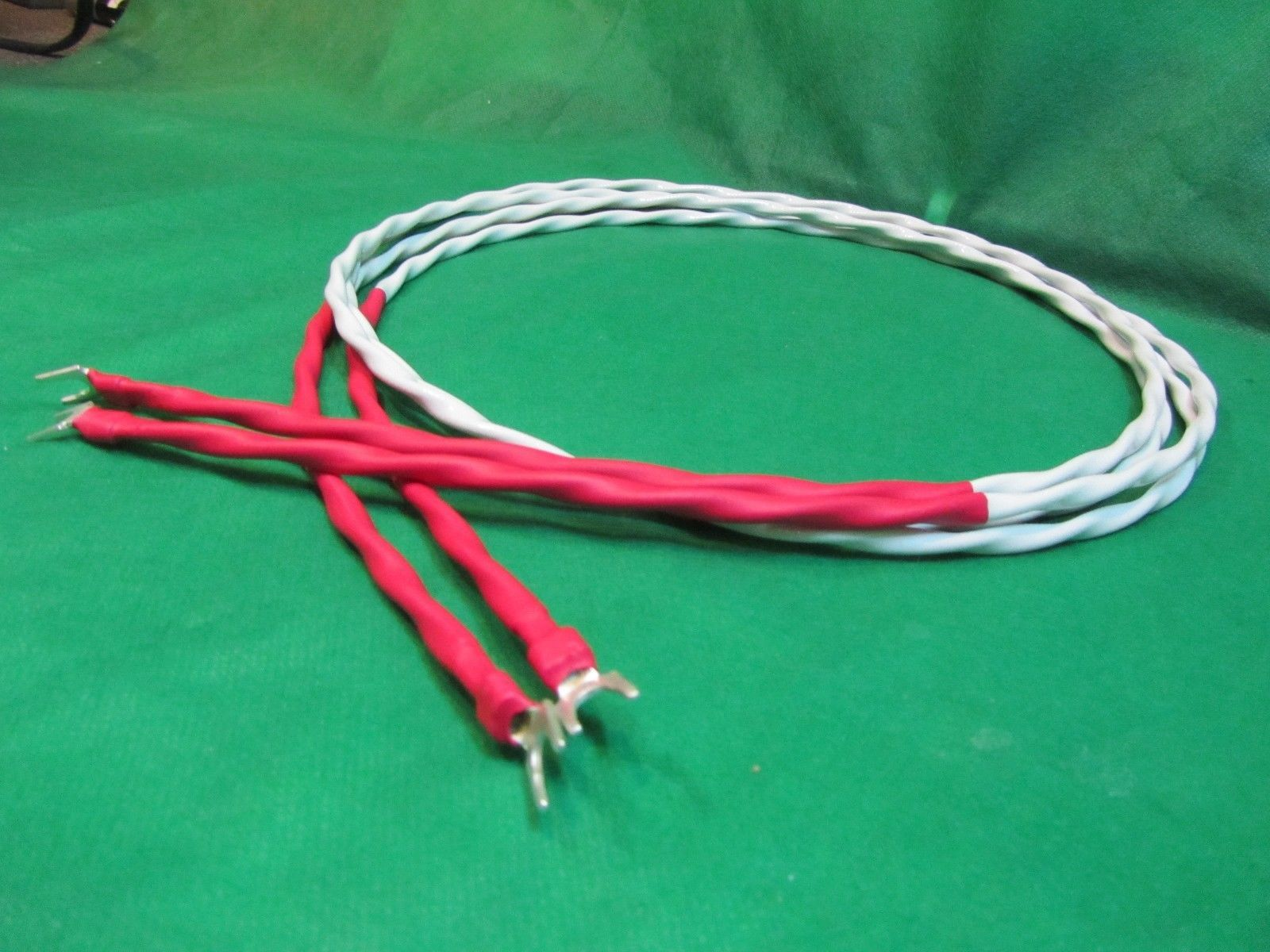 14FT 10 AWG AUDIOPHILE SILVER PLATED SPEAKER CABLES Made in USA