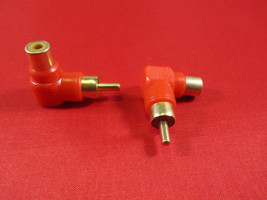2X RCA Male to Female Right Angle Adapter 90 Degree, Red. - $3.99