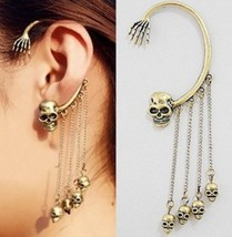 Punk Style Skull with Skeleton Hand Earring - $5.99