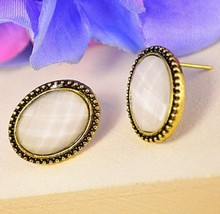 Faceted Faux Stone Earrings - $5.89