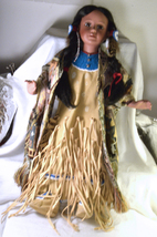"#2016 Timeless Limited Edition Porcelain American Indian Doll 17"" - $95.00"