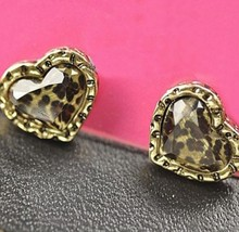 Faceted Heart Studs - £4.52 GBP