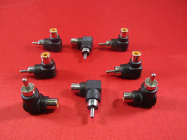 8Pcs RCA Male to Female Right Angle Adapter 90 Degree, Black. - $8.56