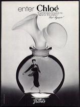 Chloe Perfume Bottled Woman Enters Fragrance 1978 Photo Ad - $14.99