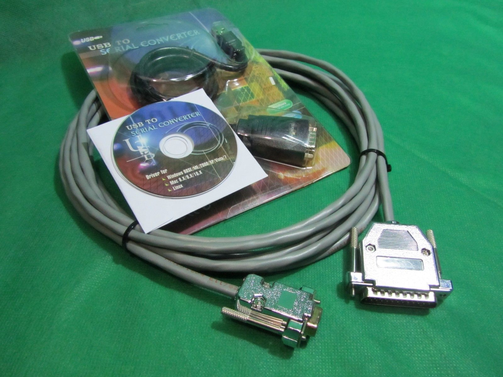 Primary image for 15 ft Quality CNC DNC RS232 Serial Cable DB9F to DB25M for PC and Laptop Kit.