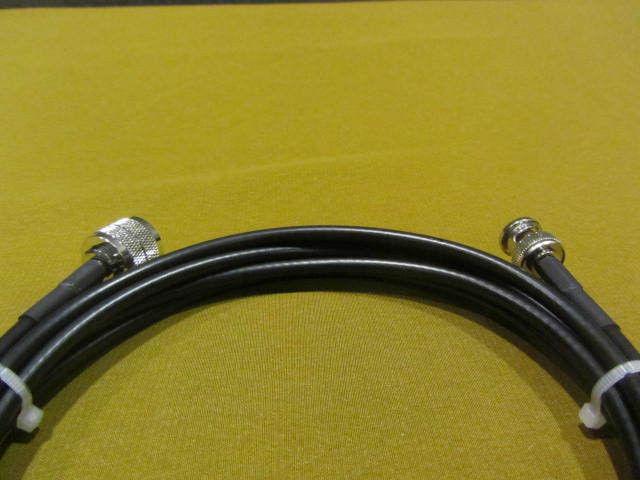40 ft Shireen RFC-195, Pigtail Coaxial Cable BNC Male to UHF PL-259 Male. - $28.01