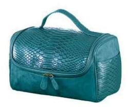 Make Up Beauty Case - Turquoise with Faux Suede (New package) image 2