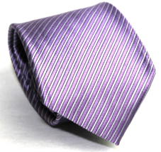 Croft and Barrow !00% Silk Men's Necktie Lavener Stripes - $6.55