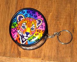 Lisa Frank Vtg Hunter Leopard Cub Rainbow Keychain Pouch Bag Mini Clear ... - $29.69