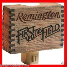Hunting Remington Rustic Signs Reproduction Nightlight ~Unique Looking~New Boxed - $19.75