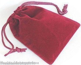 Jewelry Pouch Velour/Velvet type Pouch Lot of 5 Burgundy Color - $4.90