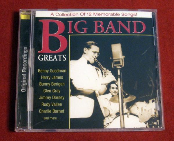 Big Band Greats Goodman James Berigan Gray Dorsey Vallee Barnet FREE SHIP Music