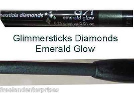 Make Up Glimmersticks Eye Liner Retractable Diamonds ~Color Emerald Glow... - $6.88