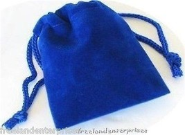 Jewelry Pouch Velour/Velvet type Pouch Lot of 5 Blue Color - $4.90