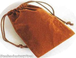Jewelry Pouch Velour/Velvet type Pouch Lot of 5 Gold/Copper Color - $4.90