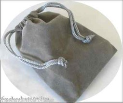 Jewelry Pouch Velour/Velvet type Pouch Lot of 5 Grey Color - $4.90