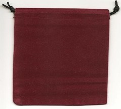 Jewelry Pouches Velour/Velvet type Pouch-Lot of 5 Burgundy Color-Size: 5... - $6.88