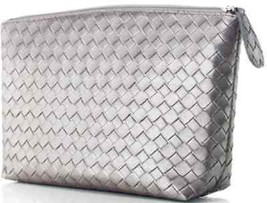 Make Up Bag ~ Clutch Silver Woven Bag NEW - $19.75