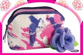 Make Up Naturals Canvas Make-Up Toiletry Bag & Sponge NEW - $10.84