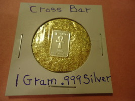 "ONE GRAM (.999) SILVER-TAU CROSS  & BAG OF FLAKES WITH ""MINUTE"" 24K GOLD... - $2.50"