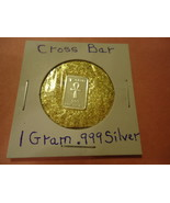 """ONE GRAM (.999) SILVER-TAU CROSS  & BAG OF FLAKES WITH """"MINUTE"""" 24K GOLD... - $2.50"""