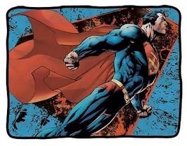 """(#76) SUPERMAN SOARING 45"""" x 60"""" Fleece Throw B... - $25.73"""