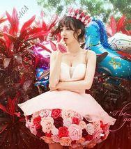 New Sweet Girls Strapless Flowers Ball Gown Mini Dress Wedding Studio Sh... - £21.43 GBP